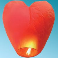 SKY LANTERN 108 Χ 70 Χ 40 cm HEART RED