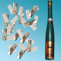 Μπουκάλι κομφετί 60 cm με λευκό χαρτί & ασημί glitter