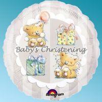 Foil An Round 18'' - Christening