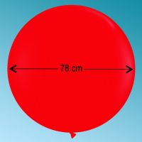 Ballon latex 3' ft red Qualatex