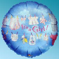 Μπαλόνι foil clothsline girl 18΄΄ στρογγυλό Anagram