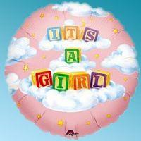 Μπαλόνι foil baby blocks girl 32΄΄ στρογγυλό Anagram