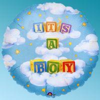 Μπαλόνι foil baby blocks boy 32΄΄ στρογγυλό Anagram