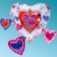 ΜΠΑΛΟΝΙ FΟΙL LOVE HEARTS 31΄΄ ΚΑΡΔΙΑ ANAGRAM