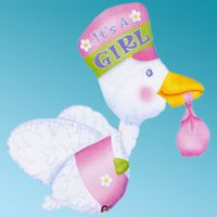 Μπαλόνι foil Bundle Of stork it' s a girl ζωάκια Anagram