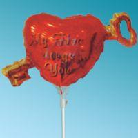 Μπαλόνι foil Mini my heart belongs to you κλειδί Καρδιά