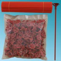 Καλαμάκια στήριξης μπαλονιών 27 εκ. κόκκινα