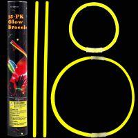 Glow stick βραχιόλι κίτρινο (15 τεμ.) 5 Χ 200mm
