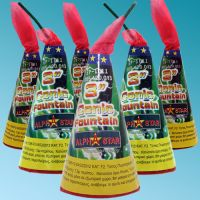 Small volcano with green flame (6pcs) Fireworks CAT. F2
