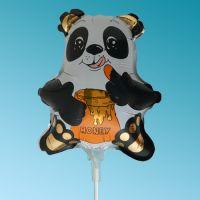 Μπαλόνια foil mini foil Αρκουδάκι Πάντα μαύρο