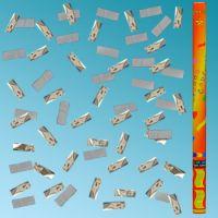Κανονάκια 101 80cm με λευκό χαρτί & ασημί κομφετί
