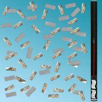 Κανονάκια 101E 80cm ηλεκτρικό με λευκό χαρτί & ασημί κομφετί