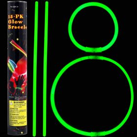 Glow stick βραχιόλι πράσινο (15 τεμ.) 5 Χ 200mm