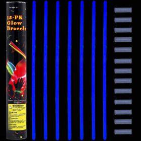 Glow stick βραχιόλι μπλέ (15 τεμ.) 5 Χ 200mm