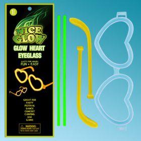 Glow Γυαλιά σχήμα καρδιάς (Πράσινα)